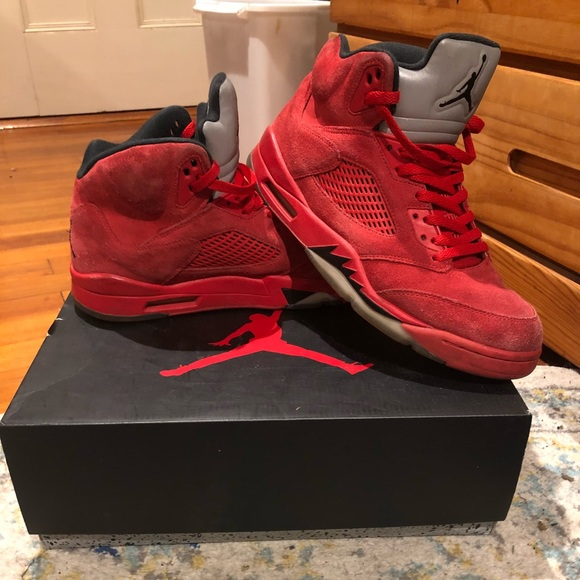 size 40 e3602 c578f 2017 Air Jordan 5 Retro V Red Suede